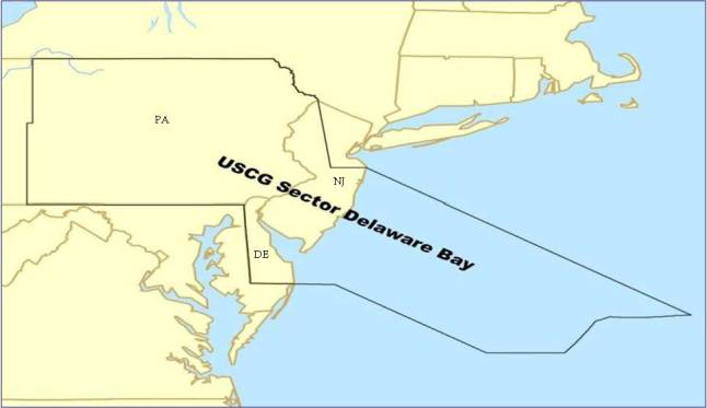 USCG Fifth District Sector Delaware Bay on map of zip code 19151, map of zip code 19150, map of zip code 19142,