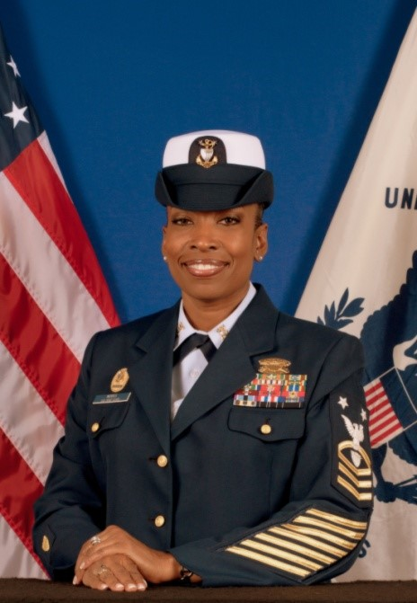 First Coast Guard District Reserve Command Master Chief Rashaun Morris
